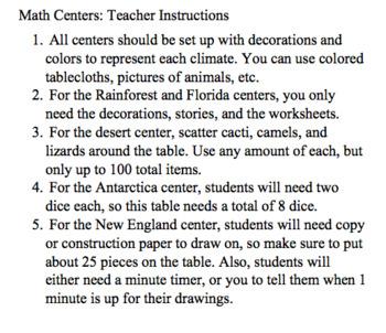 Math Centers Climates
