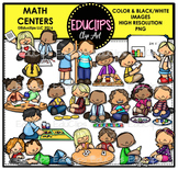Math Centers Clip Art Bundle {Educlips Clipart}