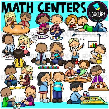 Math Centers Clip Art Bundle {Educlips Clipart}
