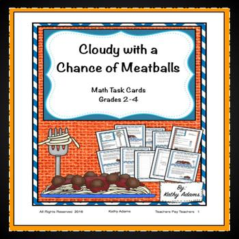 Cloudy With A Chance Of Meatballs Math Teaching Resources Teachers