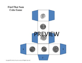 Math Centers Coin Cube Game