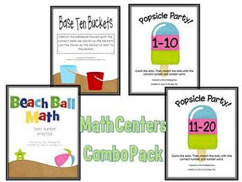 Summer Math Centers Bundle