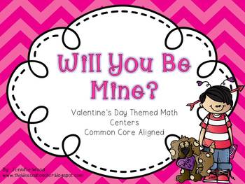 Math Centers {Common Core Aligned}....Valentine's Day Themed