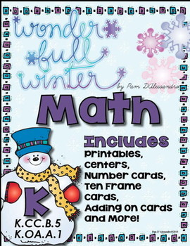 Math Centers Common Core K.CC.B5, K.OA.A.1 - How Many? Adding On