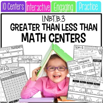 Math Centers: Comparing Numbers Greater than Less than