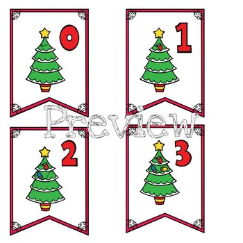 Math Centers: Counting Christmas Lights Lapbook & Mini Banners