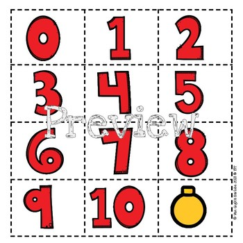 Math Centers Counting Christmas Ornaments Lapbook
