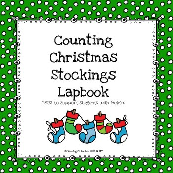 Math Centers: Counting Christmas Stockings Lapbook