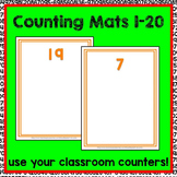 Counting Mats 1-20 Math Center