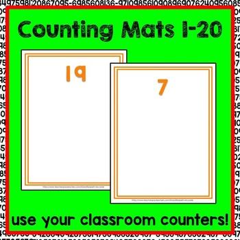 Counting Mats 1-20 Math Center