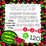 August Math Centers - Numbers to 50