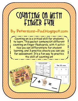 Math Centers: Counting On with Finger FUN!