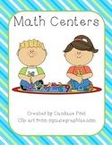 Math Centers (Daily 5 Math)