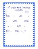 Math Centers: Decimals, Percents, Fractions