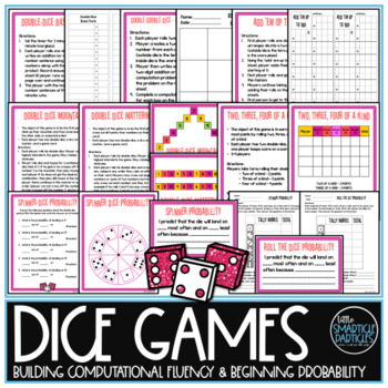 Math Centers - Dice Games
