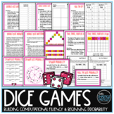 Math Centers - Dice Games - Distance Learning