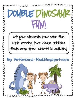 Math Centers: Doubles Dinosaur Fun Packet