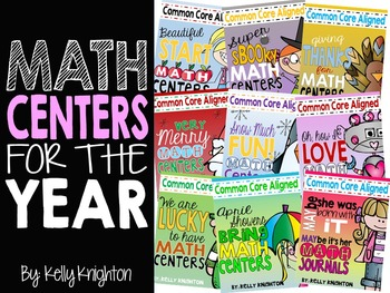 Math Centers FOR THE YEAR {First Grade}
