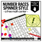 Math Centers {FREE} Racing to 50, 100, and 120 with Spinners