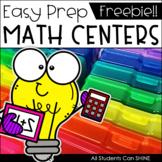 Math Centers {FREEBIE}