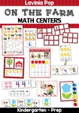 Farm Math Centers for Kindergarten
