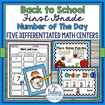 Place Value First Grade Differentiated Number of the Day {Back to School}