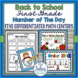 Place Value Number of the Day First Grade Differentiated M