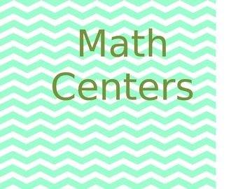 Math Centers (Fractions, Grouping, Factoring)
