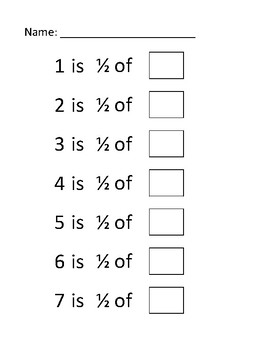 Math Centers Fractions Worksheet (file 4 of 9)