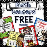 First Grade Math Centers Free!