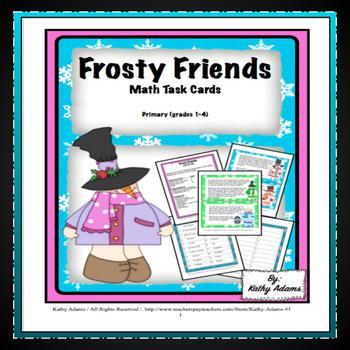 Math Center: Winter Facts Frosty Friends