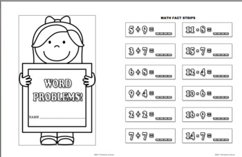 Back to School review Math Centers  Grade 1  My Own Word Problems!