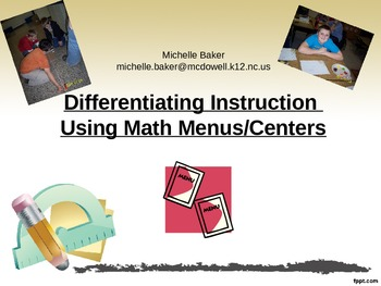 Math Centers Guide- Logistics and Ideas for Implementing