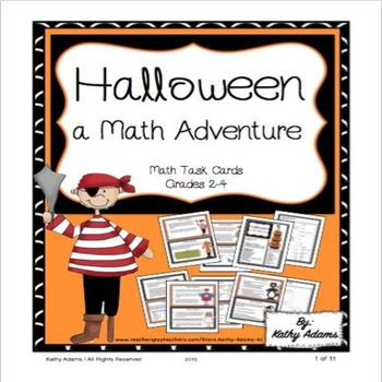 Math Halloween Work Station Task Cards