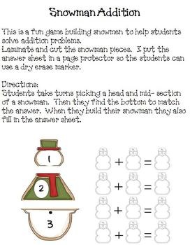 Math Centers - Holiday Edition