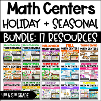Math Centers (Holiday MEGA Bundle)