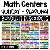Math Centers and Activities (Holiday MEGA Bundle) w/ Digital Math Centers