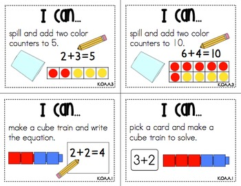 """Math Centers """"I Can"""" Task Cards {Common Core Aligned}"""