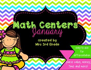 Math Centers - January