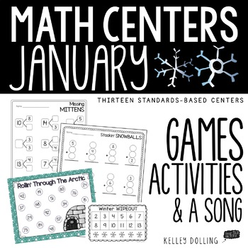 Math Centers - January (Common Core - 1st Grade)