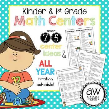 Math Centers Kindergarten & 1st Grade