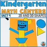 Math Centers Kindergarten | 2D & 3D SHAPES