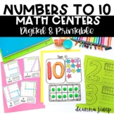 Math Centers Kindergarten Digital & Printable Counting to 10