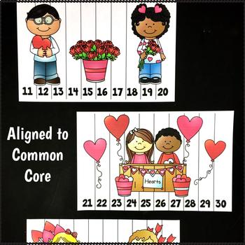Math Centers Kindergarten February