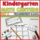 Math Centers Kindergarten - MEASUREMENT and DATA Worksheets and Activities
