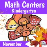 Math Centers Kindergarten November