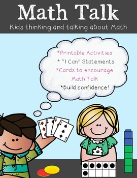 Math Centers - Learning with Math Talk Using Sentence Frames