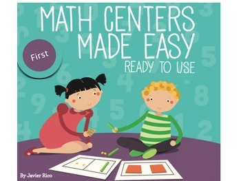 Math Centers Made Easy. First Grade Edition. English 10 Centers!!!
