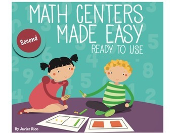 Math Centers Made Easy. Second Grade Edition. English 9 Centers!!!