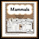 Mammals Math Task Cards